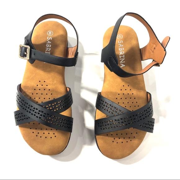 abe6ab452c2 Sabrina Black Strappy Sandals